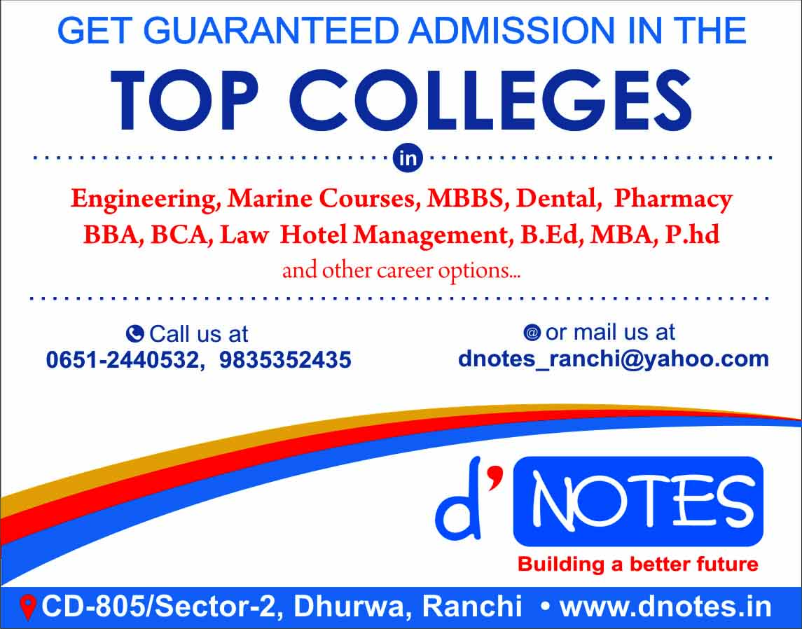 dnotes admission consultancy ranchi
